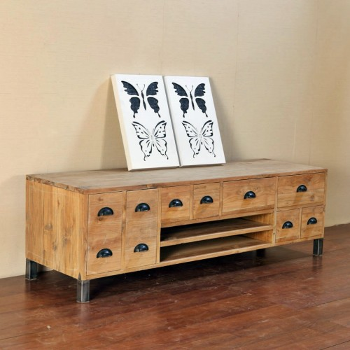 recycled wood storage cabinet PFCS-03