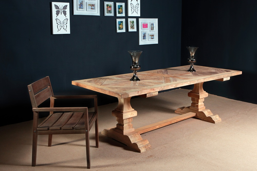 reclaimed wood furniture - teak table PFIT-04