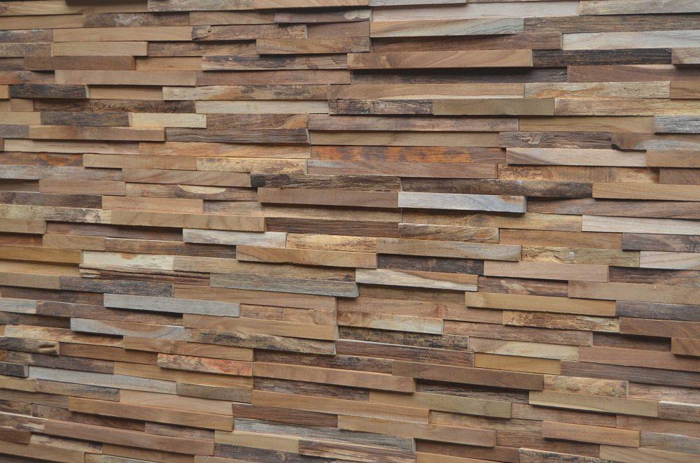 reclaimed teak wall cladding